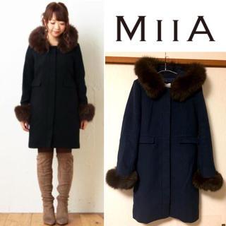 ミーア(MIIA)の【MiiA】♡ボリュームFOXファーフェミニンコート(NAVY)(毛皮/ファーコート)