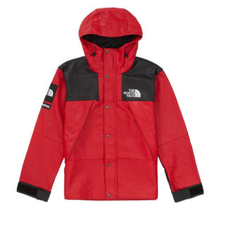 シュプリーム(Supreme)のSupreme NorthFace コラボ leather jacket(ダウンジャケット)