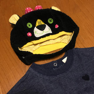 アンパサンド(ampersand)のとってもかわいい くまさん フリース モコモコ帽子 used感あり(帽子)