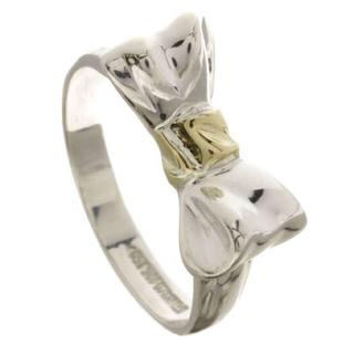 ティファニー(Tiffany & Co.)の購入可能です❥TIFFANY☆リボンリングK18&シルバ(リング(指輪))