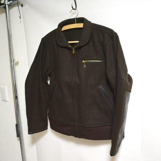 テンダーロイン(TENDERLOIN)の美品TENDERLOIN テンダーロイン ウールワークジャケットホースレザー格安(レザージャケット)