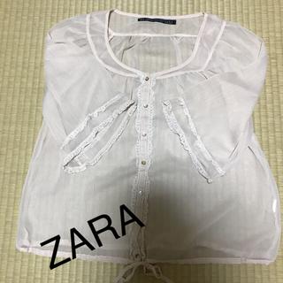 ザラ(ZARA)のZARAシフォントップス(シャツ/ブラウス(半袖/袖なし))