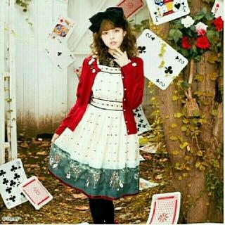 シークレットハニー(Secret Honey)の不思議の国のアリス*Painting roses redワンピース*ホワイト(ミニワンピース)