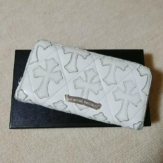 クロムハーツ(Chrome Hearts)のクロムハーツ セメタリーパッチウォレット ホワイト 銀座店購入正規品(長財布)