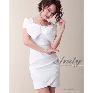 アンディ(Andy)のandy ♡ リボンオフショル ドレス(ミニドレス)