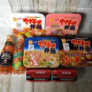 キリン(キリン)の♡北海道限定♡焼きそば弁当♡ガラナ♡ナポリン♡炭酸飲料♡詰め合わせ♡お得♡(インスタント食品)