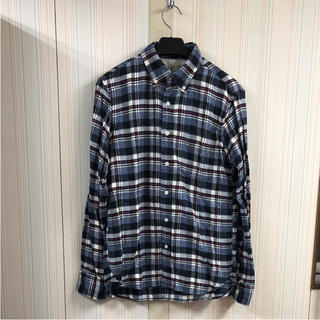 MUJI (無印良品) - 【美品】無印良品 長袖 フランネルチェックシャツ(L)