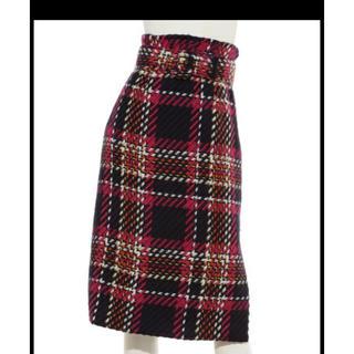 ミラオーウェン(Mila Owen)の新品、未使用♡ミラウォーエンチェックスカート(ひざ丈スカート)