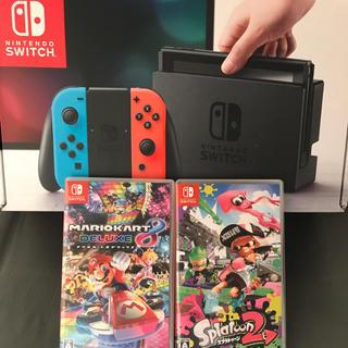 Nintendo Switch - 任天堂Switch 本体 ソフト2個付き