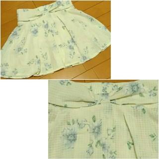シマムラ(しまむら)の新品未使用 ブルー花柄キュロット(キュロット)