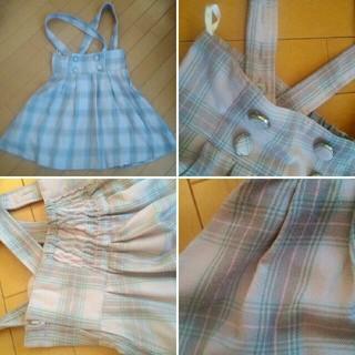 しまむら - ロリータ系チェック柄ジャンパースカート