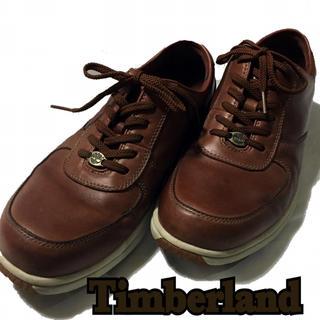 ティンバーランド(Timberland)の【Timberland】ティンバーランド レザースニーカー26.5cm ブラウン(スニーカー)