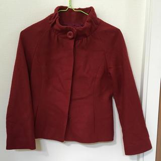 ストロベリーフィールズ(STRAWBERRY-FIELDS)のストロベリーフィールズ 赤 コート(ピーコート)