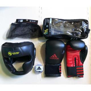 アディダス(adidas)のボクシング ヘッドギア グローブ マウスピース セット(ボクシング)