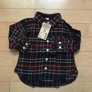 MUJI (無印良品) - ☆【新品未使用】無印良品 赤系チェック フランネルシャツ 80cm☆