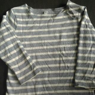 《無印良品》100cm 長袖ボーダーシャツ