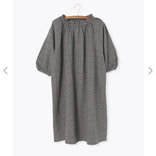 サマンサモスモス(SM2)の変わり織り衿シャーリングワンピース(ロングワンピース/マキシワンピース)
