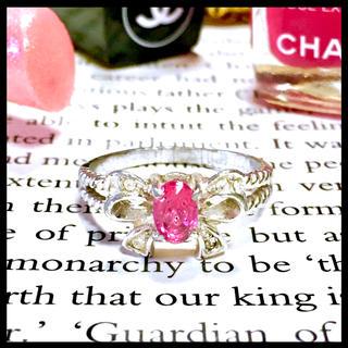 ◆ピンク クリスタル ストーン silver リング 指輪◆(リング(指輪))