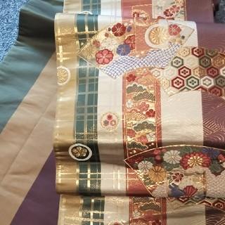 着物帯 袋帯 正絹ベージュ(帯)