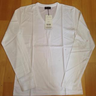 メンズビギ(MEN'S BIGI)の新品タグ付き☆ メンズビギ ホワイトカットソー(Tシャツ/カットソー(七分/長袖))