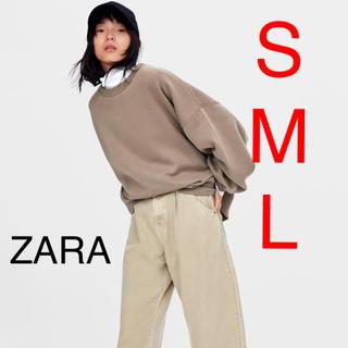 ザラ(ZARA)のZARA  オーバーサイズパーカー スウェット(トレーナー/スウェット)