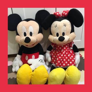 ディズニー(Disney)のミッキー ミニー 特大ぬいぐるみ(ぬいぐるみ)