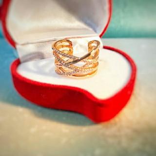 1 ⭐即日発送⭐ 編みデザイン 指輪 大人気デザインに リング フリーサイズ❤1(リング(指輪))