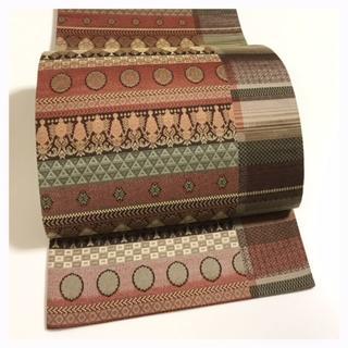 美品【極上 逸品】袋帯 上質 正絹 織り 全通柄 中古品(帯)