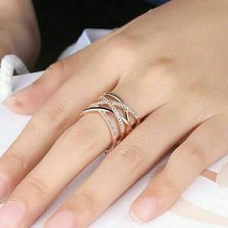 1 ⭐即日発送⭐ 編みデザイン 指輪 大人気デザインに リング フリーサイズ❤(リング(指輪))