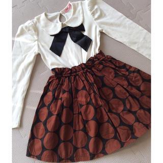 ebaeaa67020d6 ザラキッズ(ZARA KIDS)の韓国子供服 ワンピース リボン コンビ水玉(ワンピース)