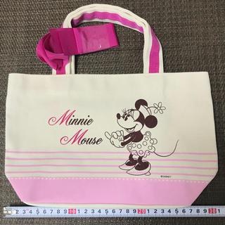 ディズニー(Disney)の新品 未使用 非売品 ディズニー ミニー リボン 付き ミニ トート バッグ(ノベルティグッズ)