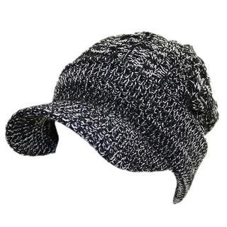 帽子メンズ レディース  キャスケット ツイストスリー ブラック&ホワイト(キャスケット)