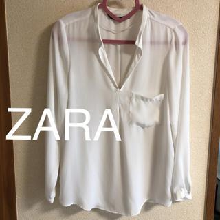 ザラ(ZARA)のZara シフォンシャツ(シャツ/ブラウス(半袖/袖なし))