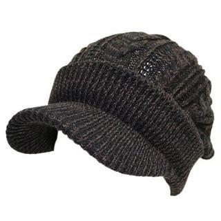 帽子 レディース メンズ キャスケット ツイストスリー ブラック&ブラウン(その他)