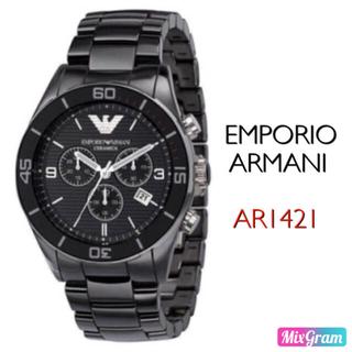 エンポリオアルマーニ(Emporio Armani)のエンポリオアルマーニ AR1421 セラミカ ブラック メンズ腕時計 新品未使用(腕時計(アナログ))