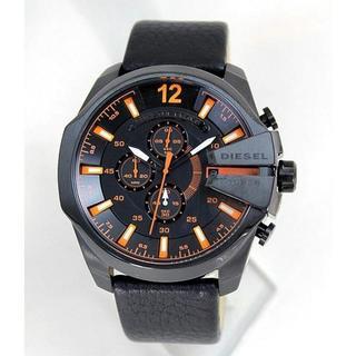 ディーゼル(DIESEL)の新品DIESELディーゼルDZ4291★ブラック×オレンジ(腕時計(アナログ))