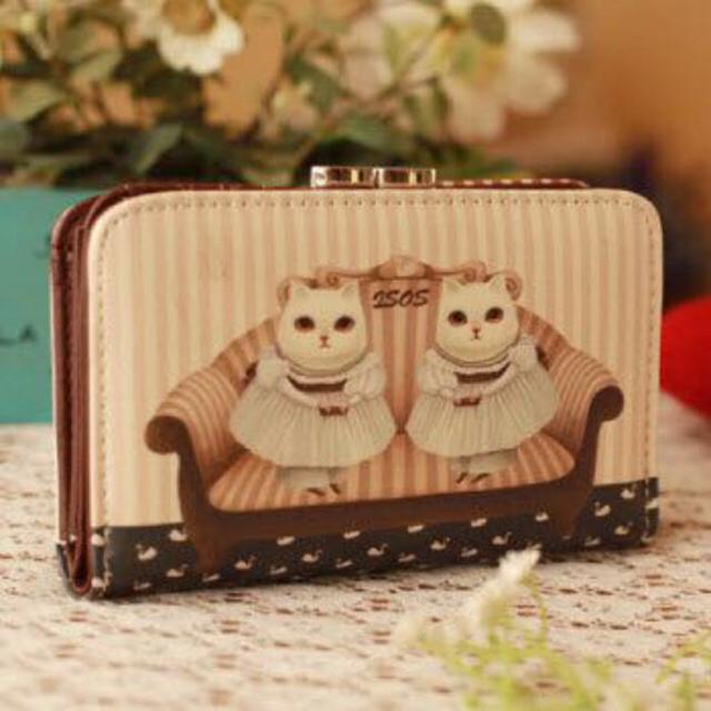 猫財布 森ガール系♪ レディースのファッション小物(財布)の商品写真