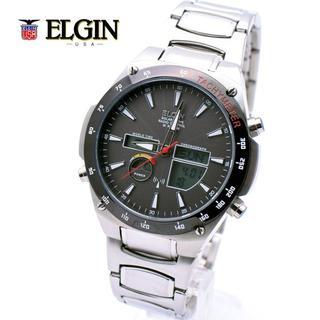 エルジン(ELGIN)のエルジン ELGIN 電波 ソーラー メンズ 腕時計 多機能 10気圧防水(腕時計(アナログ))