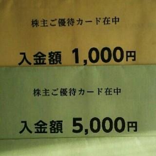 西松屋株主優待券6,000円分 有効期限2018年11月15日