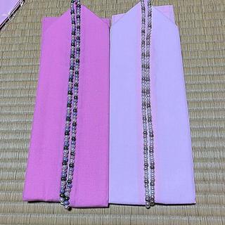 新品 振袖 重ね襟 重ね衿 ピンク パール 成人式 卒業式  (振袖)