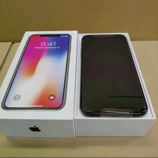 アップル(Apple)のiPhone X Space Gray 256 GB docomo 美品!(スマートフォン本体)