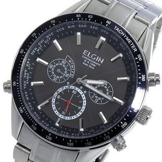 エルジン(ELGIN)のエルジン 時計 ELGIN 電波 ソーラー クロノグラフ メンズ 腕時計 人気(腕時計(アナログ))