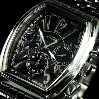 エルジン(ELGIN)のエルジン 腕時計 メンズ ELGIN クロノグラフ トノー型 ブランド 人気(腕時計(アナログ))
