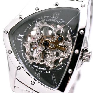 コグ(COGU)のコグ 腕時計 メンズ COGU スケルトン 自動巻き ブランド おしゃれ 黒(腕時計(アナログ))
