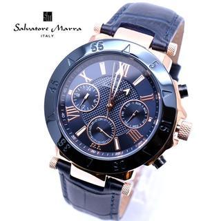サルバトーレマーラ(Salvatore Marra)のサルバトーレマーラ 腕時計 メンズ 革ベルト ネイビー 時計 人気(腕時計(アナログ))