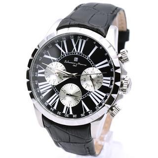 サルバトーレマーラ(Salvatore Marra)のサルバトーレマーラ 腕時計 メンズ ブランド ブラック 黒 革ベルト(腕時計(アナログ))