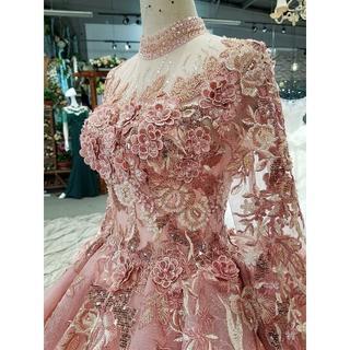豪華ウエディングドレス カラードレス 贅沢刺繍