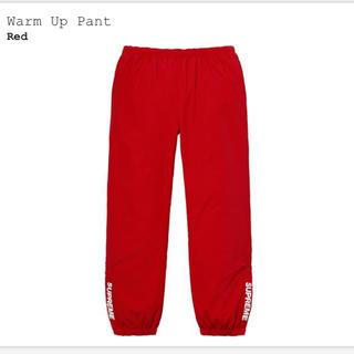 シュプリーム(Supreme)のSサイズ supreme Warm Up Pant 赤 Red ウォームアップ(その他)