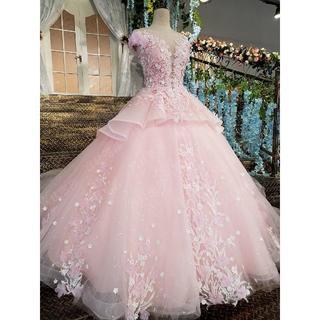 ピンク カラードレス ウエディングドレス