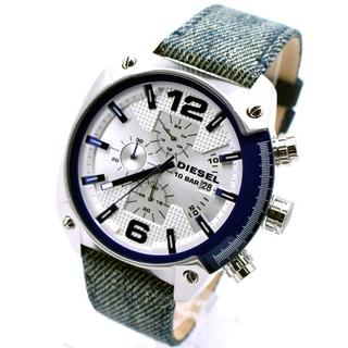 ディーゼル(DIESEL)のディーゼル 腕時計 メンズ DIESEL 時計 OVERFLOW デニム ベルト(腕時計(アナログ))
